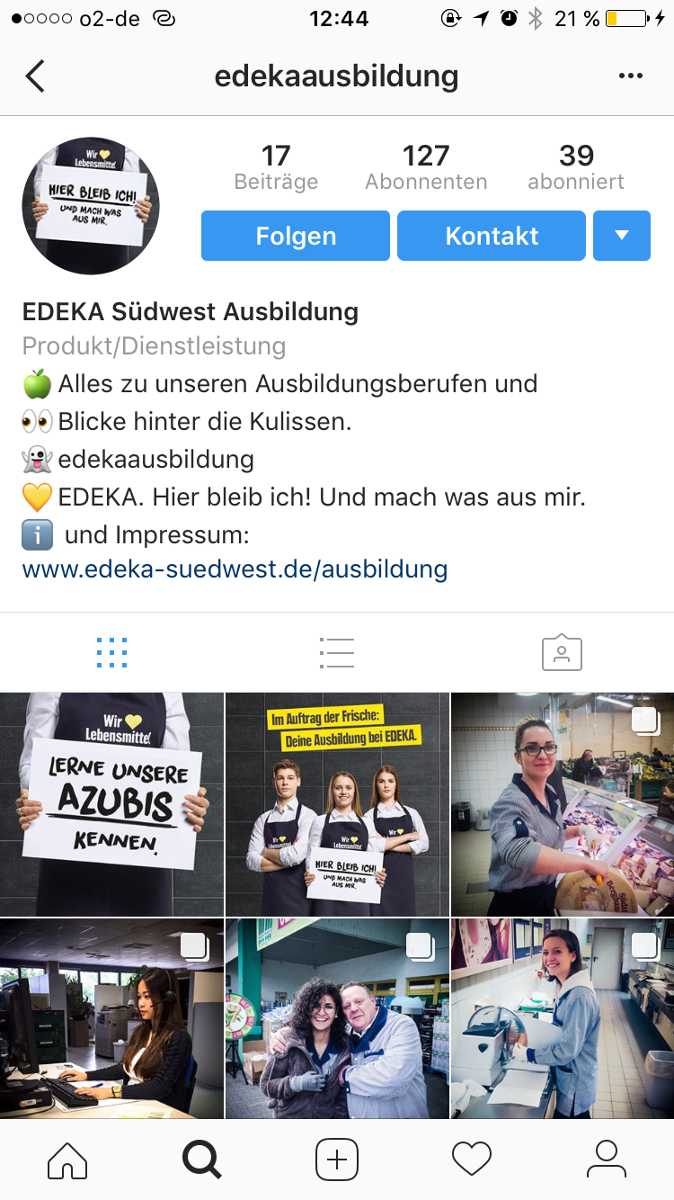 Edeka Instgram Account
