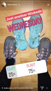 Instagram Umfrage mit Schuhen