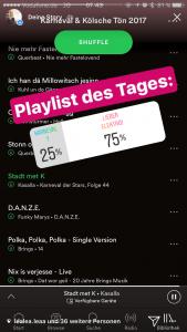 Instagram Stories: Umfrage mit Musik