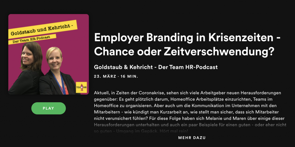 Employer Branding in Krisenzeiten