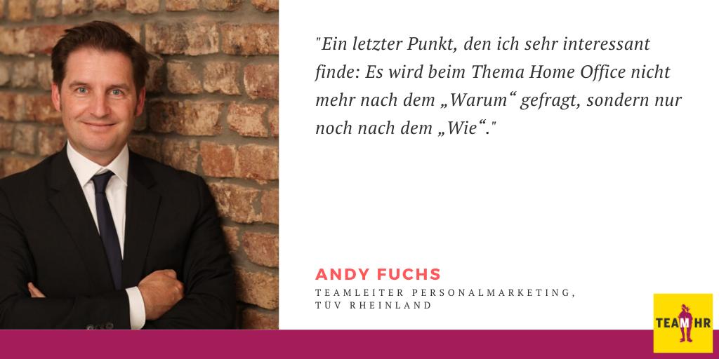 Andy Fuchs, Teamlead Employer Branding, TÜV Rheinland AG